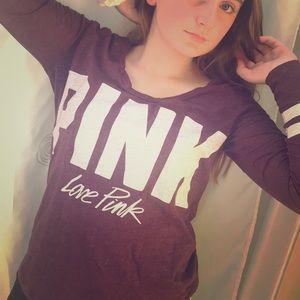 long sleeve pink shirt
